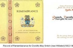 Record of Rememberance Mum